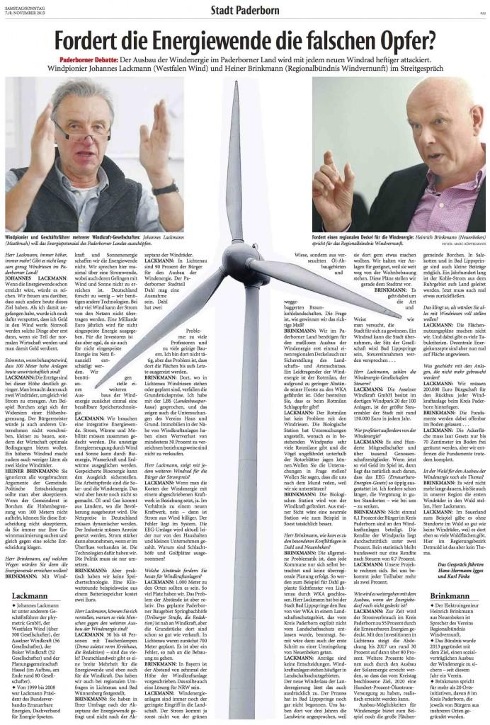 2015_11_07 NW Fordert die Energiewende die falschen Opfer